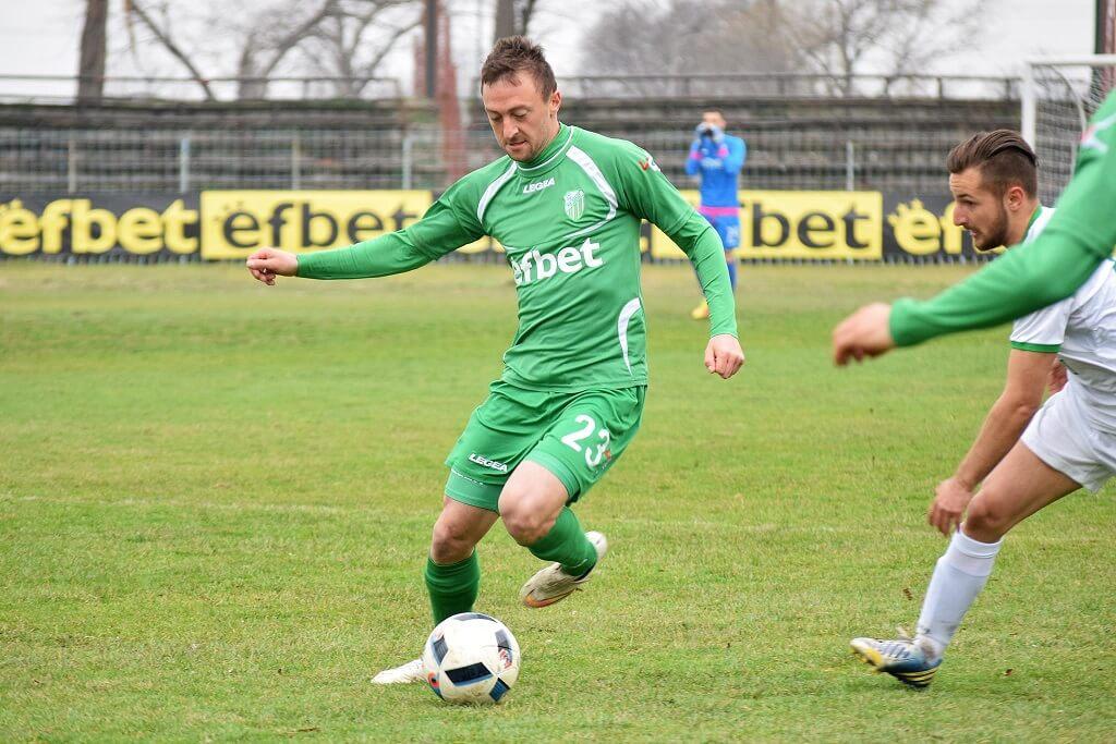 Цветан Павлов вкара единствения гол в мача през есента.